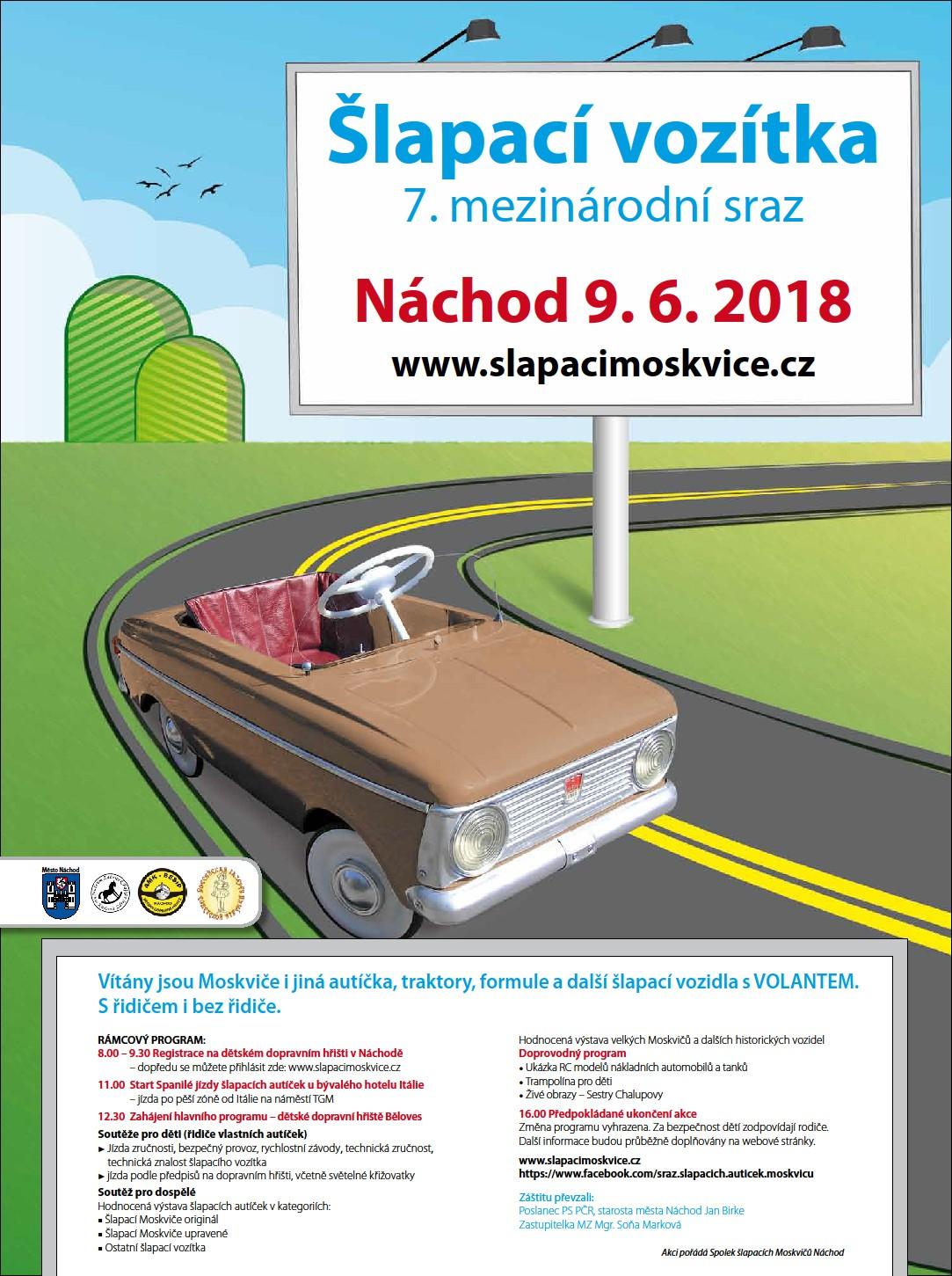 7. Mezinárodní sraz šlapacích vozítek v Náchodě 9.6.2018
